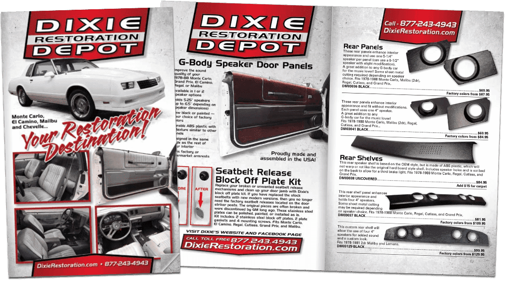 Exclusive G-Body Parts Catalog from Dixie Restoration