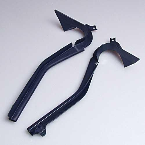 78-88 Windshield Post Lower Trim Beside Dash (pair): 80-88 Dark