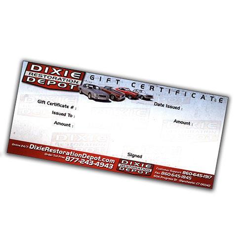 $10 Dixie Restoration Depot Gift Certificate | Dixie