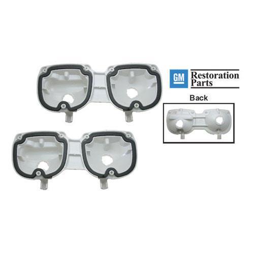 73-77 Tail Light Lens Housings (w/ gaskets): Pair
