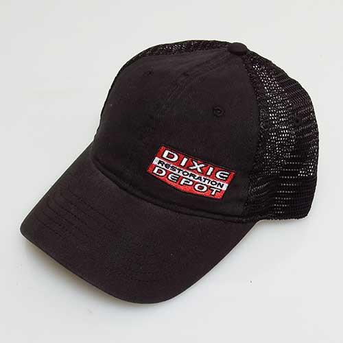 New Black Dixie Restoration Depot Logo Trucker Hat!